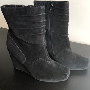 Hush Puppies Suede Wedge Boots